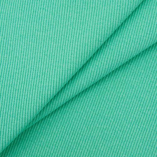 Ткань на отрез кашкорсе с лайкрой 2507-1 цвет мятный фото 1