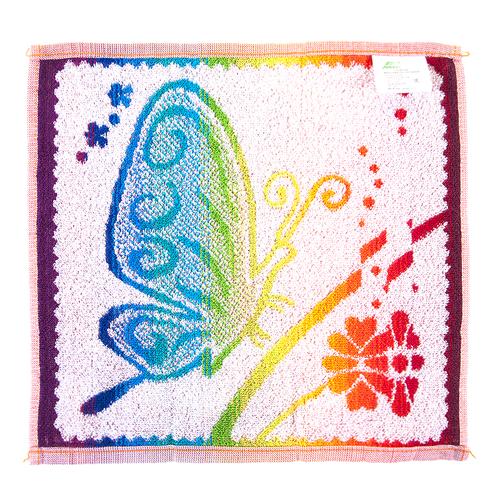 Салфетка махровая 3670 Бабочка 30/30 см фото 4