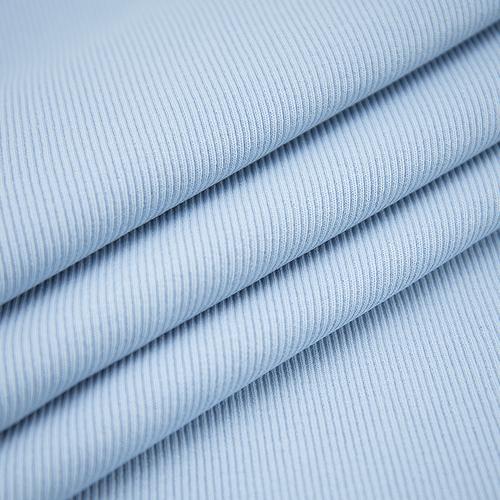 Ткань на отрез кашкорсе 3-х нитка с лайкрой цвет голубое небо фото 1