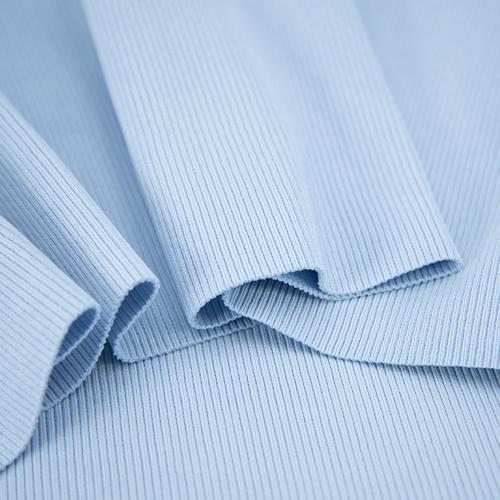 Ткань на отрез кашкорсе 3-х нитка с лайкрой цвет голубое небо фото 3