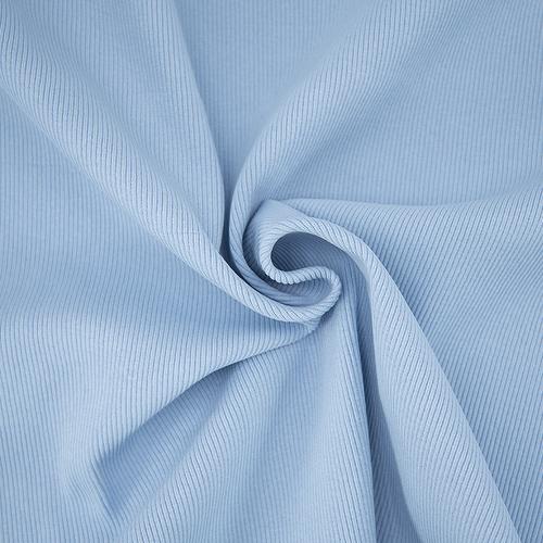Ткань на отрез кашкорсе 3-х нитка с лайкрой цвет голубое небо фото 2