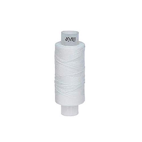 Нитки швейные 40ЛШ 200м цвет 0101 белый фото 1