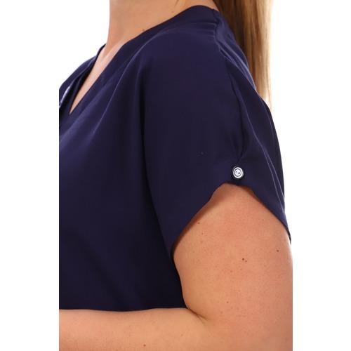 Блуза 6707 синяя р 50 фото 2