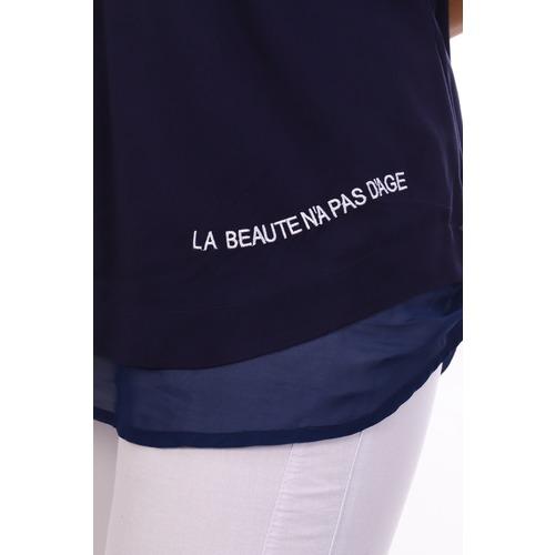Блуза 6707 синяя р 50 фото 5