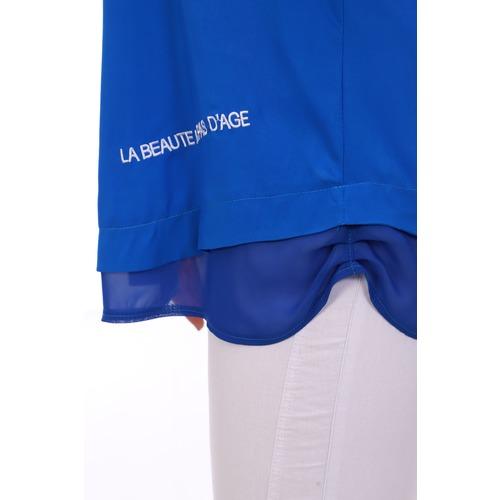 Блуза 6707 синяя р 50 фото 8