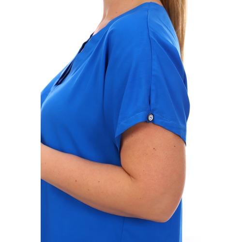 Блуза 6707 синяя р 50 фото 9
