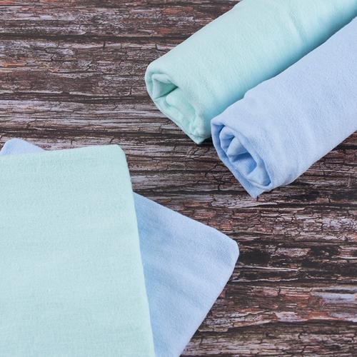 Набор детских пеленок фланель 4 шт 75/120 см Голубой/Фисташковый фото 1