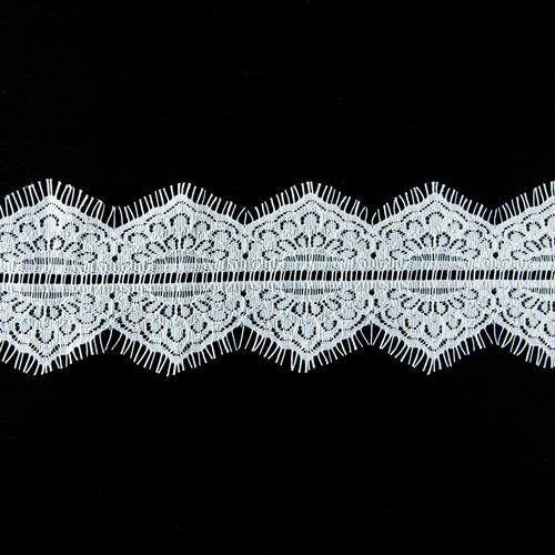 Кружево реснички 9см 08-31 белый ( упаковка 3м ) фото 1