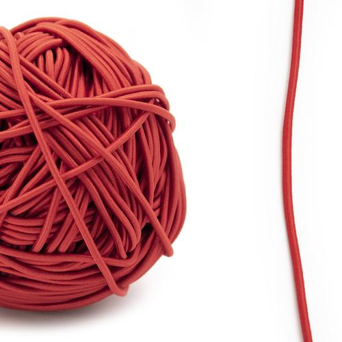 Резинка шляпная 0,25см красная 1 метр фото 1
