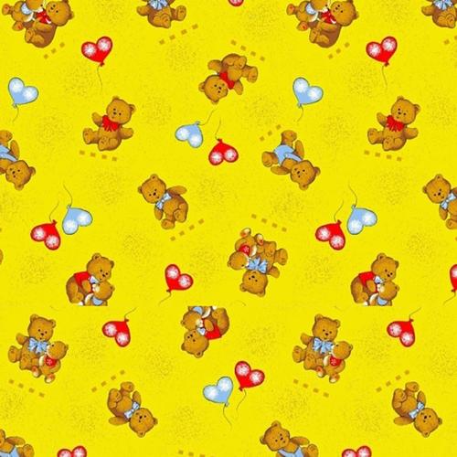 Ткань на отрез бязь ГОСТ детская 150 см 609/4 цвет жёлтый фото 1