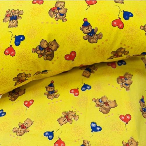 Ткань на отрез бязь ГОСТ детская 150 см 609/4 цвет жёлтый фото 3
