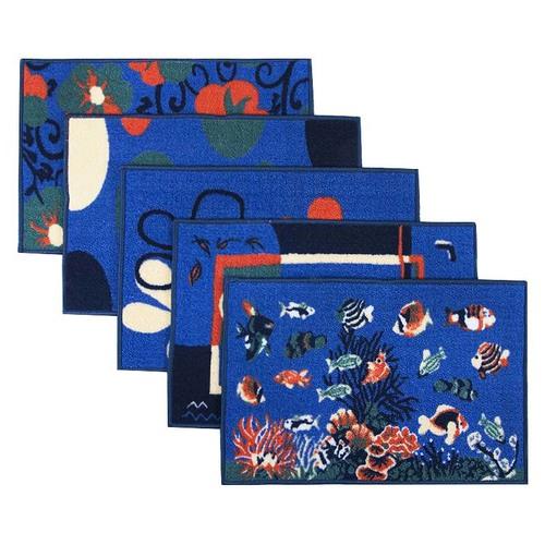 Коврик для ванной 45/75 200 цвет синий фото 1