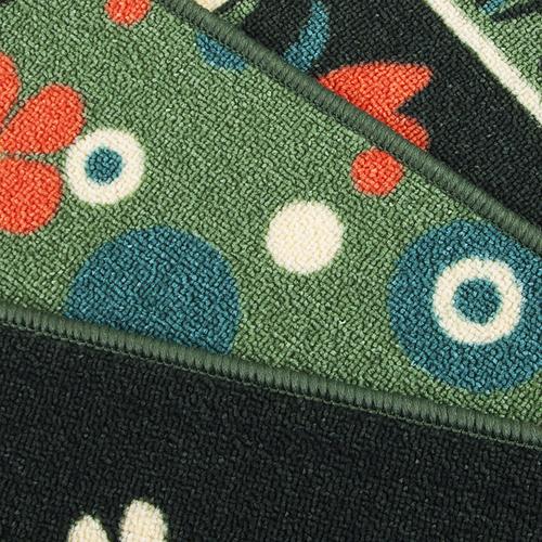 Коврик для ванной 40/55 100 цвет зеленый фото 3