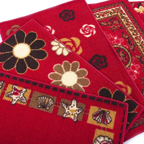 Коврик для ванной 40/55 100 цвет красный фото 4