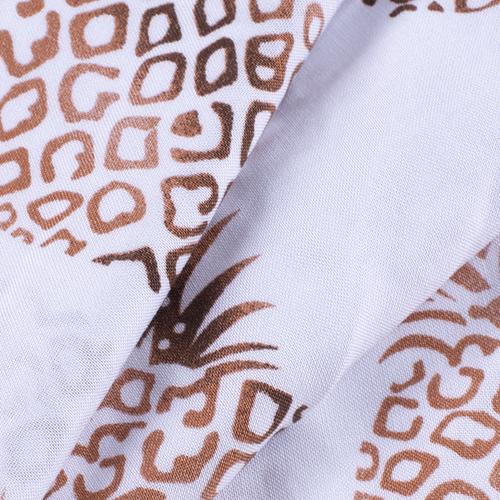 Ткань на отрез штапель 145 см 30011 Ананасы фото 5