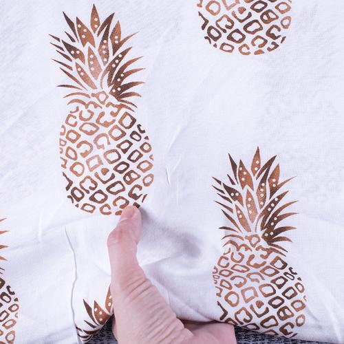 Ткань на отрез штапель 145 см 30011 Ананасы фото 6