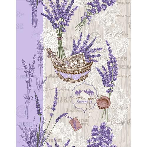 Ткань на отрез вафельное полотно 50 см 5590/1 Лето в Провансе фото 1