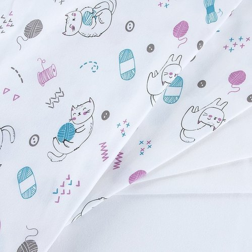 Ткань на отрез интерлок пенье цвет сахар 3420-18 фото 4