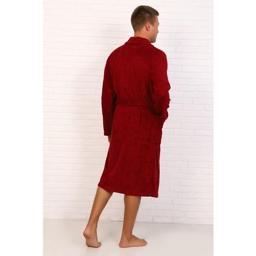 Халат мужской Элит с воротником-шалькой 12940 цвет бордовый р 52 фото 4