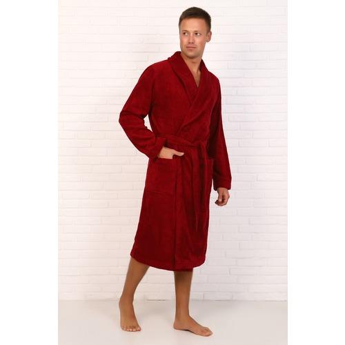 Халат мужской Элит с воротником-шалькой 12940 цвет бордовый р 52 фото 3