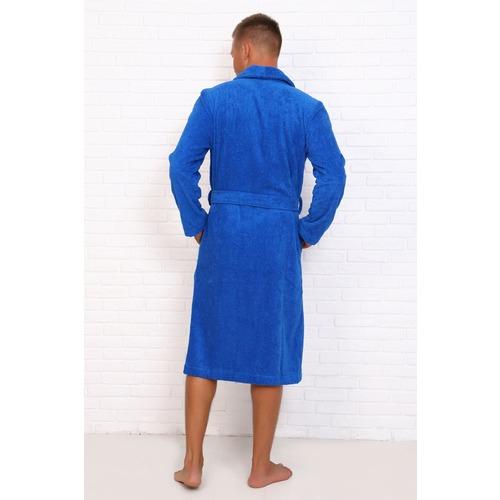 Халат мужской Элит с воротником-шалькой 12940 цвет ярко-синий р 52 фото 2