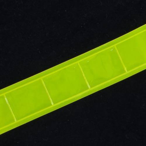 Тесьма светоотражающая 25мм желтая 1 м фото 1