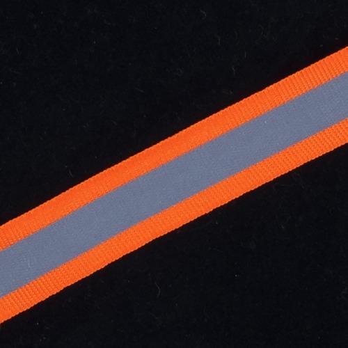 Тесьма со светоотражающей лентой 2см оранжевый 1 м фото 1