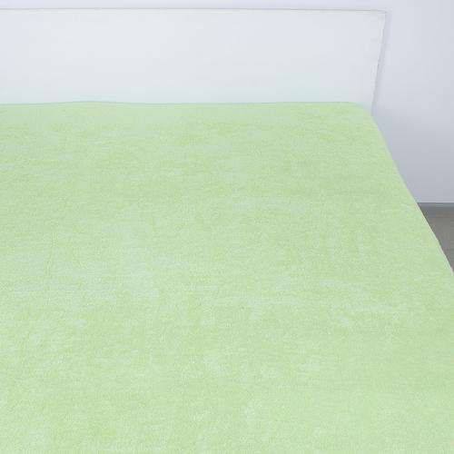 Простынь махровая цвет Салатовый 150/220 фото 1