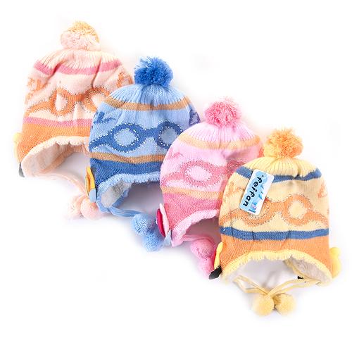 Шапка детская на меху 3 о/г 42-46 см разные расцветки фото 3