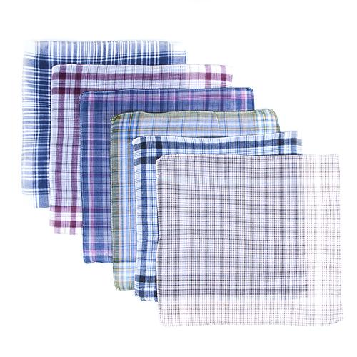Платки носовые мужские 32х32 расцветки в ассортименте 10 шт фото 1