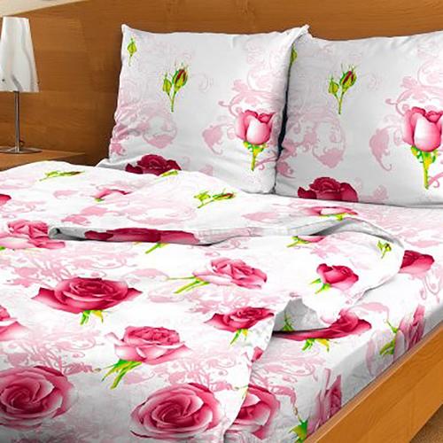 Постельное белье из бязи эконом 3152/1 розовый 2-х сп фото 1