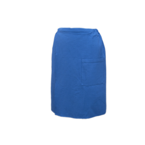 Вафельная накидка на резинке для бани и сауны Премиум мужская 60 см 556-3 василек фото 1