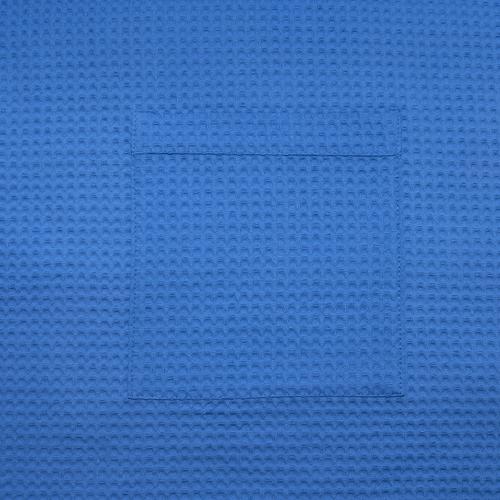 Вафельная накидка на резинке для бани и сауны Премиум мужская 60 см 556-3 василек фото 5