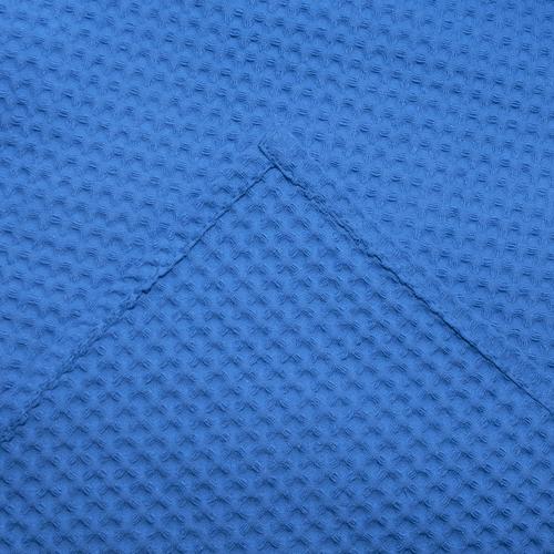 Вафельная накидка на резинке для бани и сауны Премиум мужская 60 см 556-3 василек фото 4