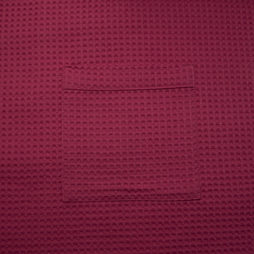 Вафельная накидка на резинке для бани и сауны Премиум женская 80 см цвет 789/3 брусничный фото 5