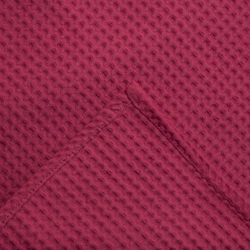Вафельная накидка на резинке для бани и сауны Премиум женская 80 см цвет 789/3 брусничный фото 3