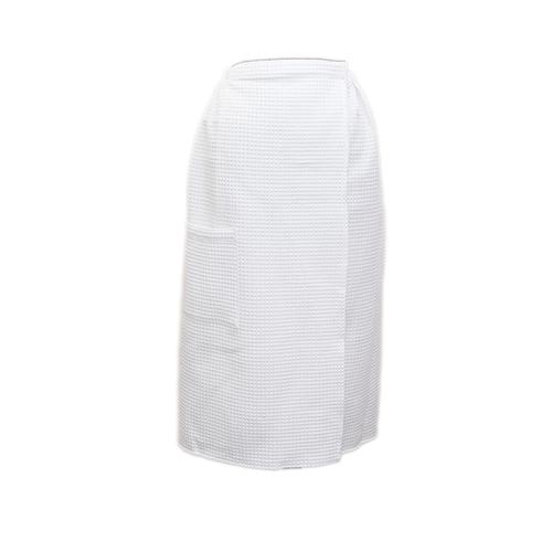 Вафельная накидка на резинке для бани и сауны Премиум женская 80 см цвет белый фото 1