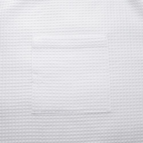 Вафельная накидка на резинке для бани и сауны Премиум женская 80 см цвет белый фото 5