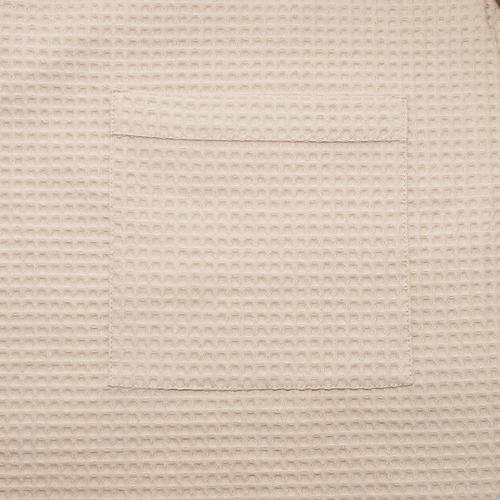 Вафельная накидка на резинке для бани и сауны Премиум мужская 60 см бежевый фото 4