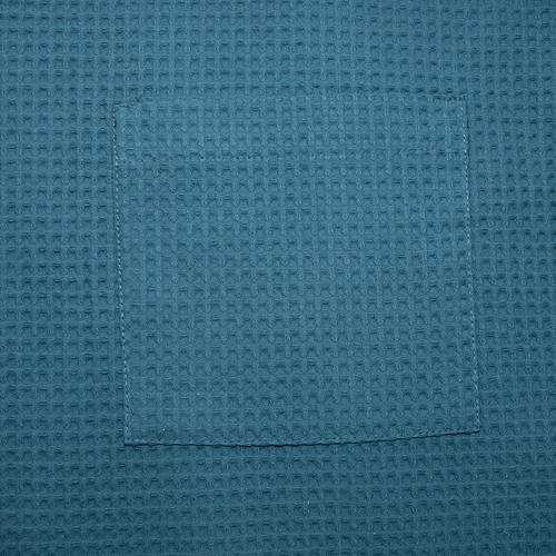Вафельная накидка на резинке для бани и сауны Премиум мужская 60 см цвет 530 изумруд фото 4