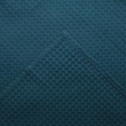 Вафельная накидка на резинке для бани и сауны Премиум мужская 60 см цвет 530 изумруд фото 3