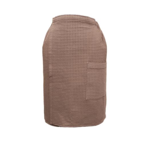 Набор для сауны вафельный мужской 2 предмета цвет коричневый фото 3