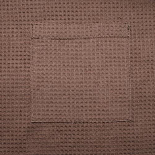 Набор для сауны вафельный мужской 2 предмета цвет коричневый фото 5