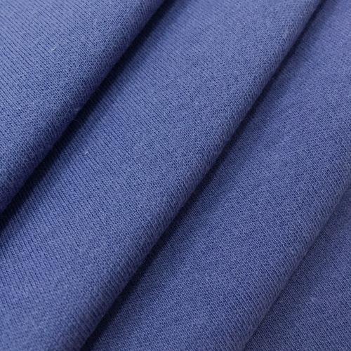Ткань на отрез интерлок цвет синий фото 4