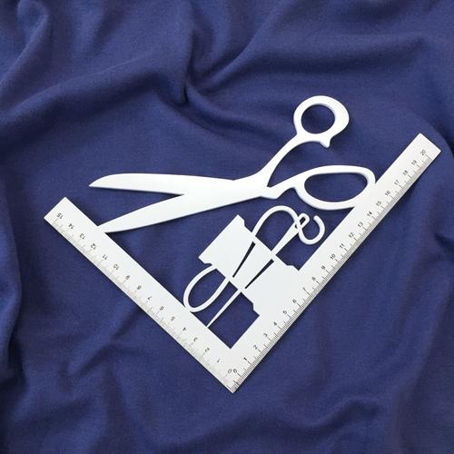 Ткань на отрез интерлок цвет синий фото 2