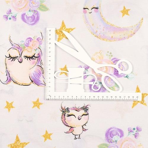 Ткань на отрез перкаль 150 см 13232/1 Owls Модель 2 фото 4