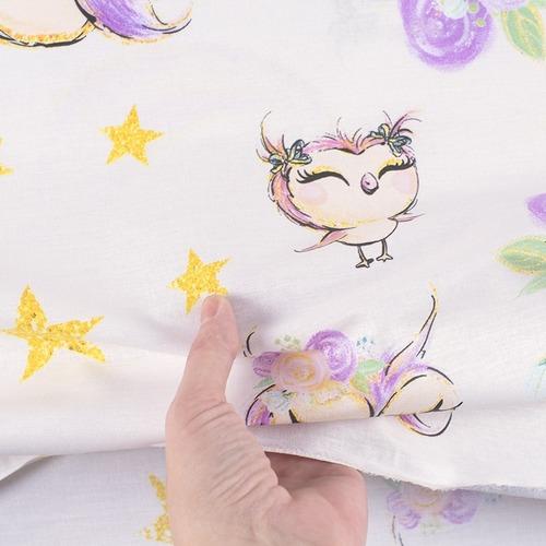 Ткань на отрез перкаль 150 см 13232/1 Owls Модель 2 фото 2