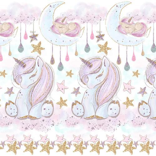 Ткань на отрез перкаль 150 см 13247/1 Unicorns Модель 1 фото 1