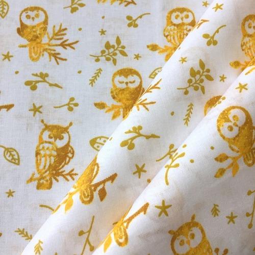 Ткань на отрез перкаль 150 см 13273-1 Little owls Компаньон фото 5