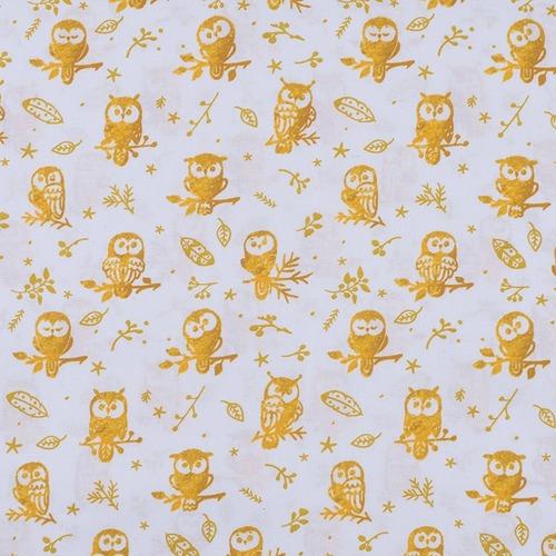 Ткань на отрез перкаль 150 см 13273-1 Little owls Компаньон фото 1